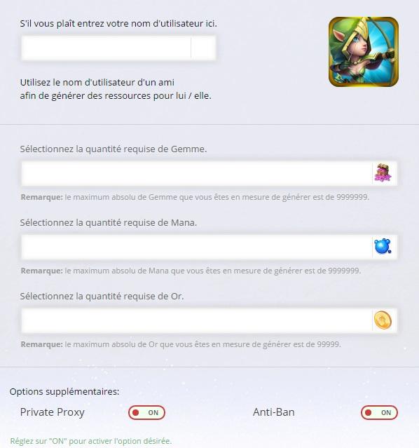 Clash de Châteaux Castle Clash Gemme Online Triche