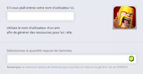 Clash of Clans Gemmes Online Triche