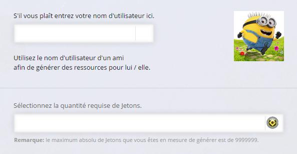 Moi Moche et Méchant Minion Rush Jetons Online Cheat