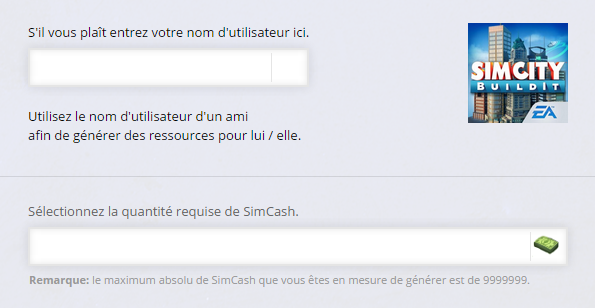 SimCity BuildIt SimCash Online Triche