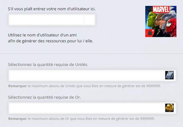 MARVEL Tournoi des Champions Unités Online Triche